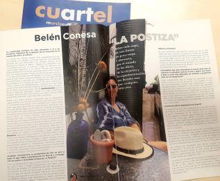 Entrevista a Belén Conesa en la revista cultural CUARTEL publicada por el Ayto. deMurcia.